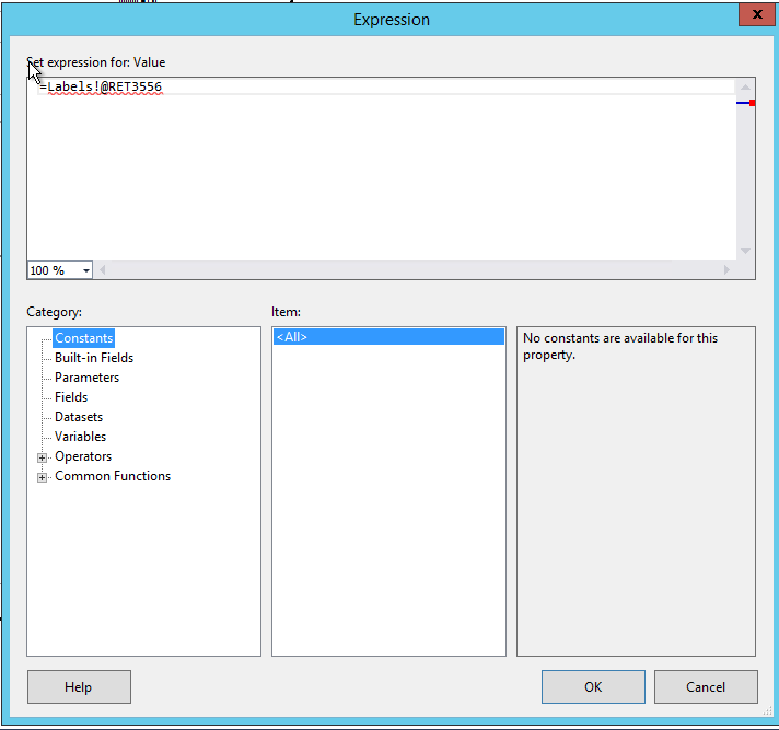 Add a label in SSRS report for a text  - Microsoft Dynamics