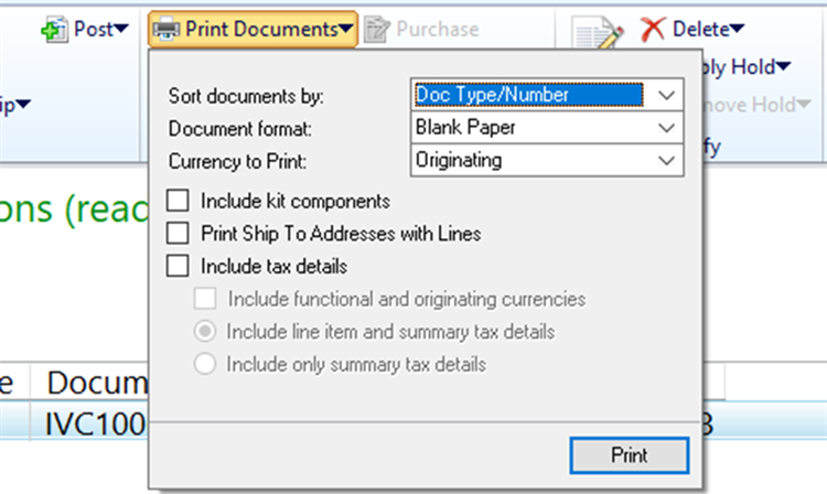 New in Dynamics GP 2018 R2: Print in Functional Currency