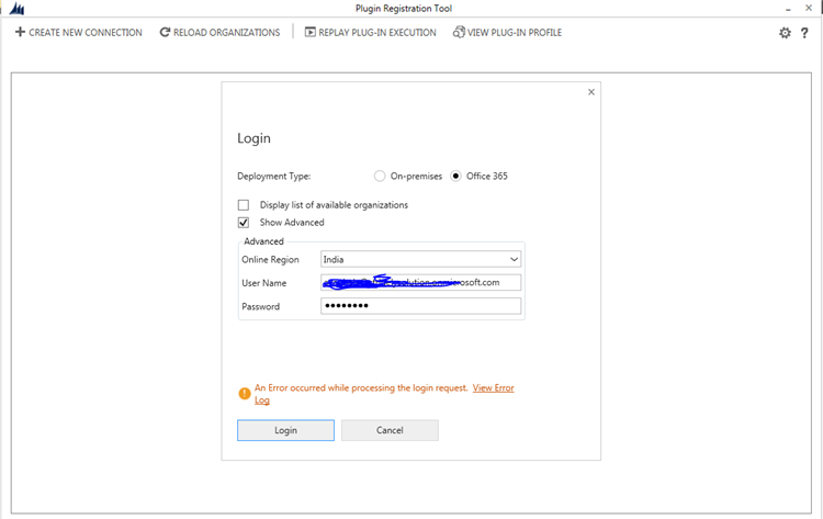 Unable to login in Plugin Registration Tool - Microsoft